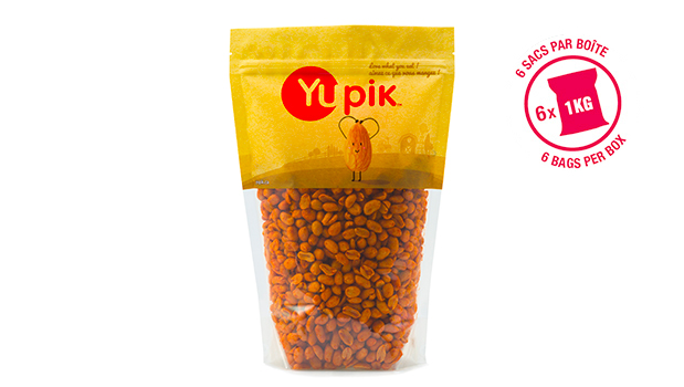 Peanuts, non-hydrogenated canola oil, salt, spices, sugar, whole wheat flour (wheat), turola yeast, yeast extract, monosodium glutamate, dextrose, onion, color, tomato powder, garlic, hydrogenated soyabean oil (soy), smoke flavor, caramel (color), citric acid, silicon dioxide.
