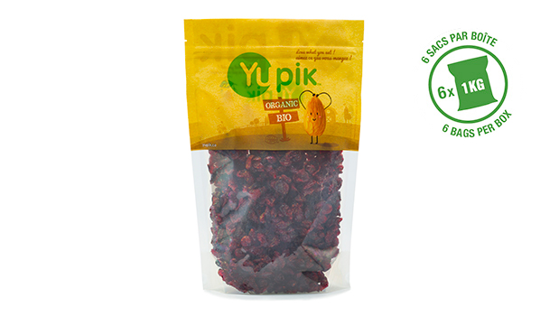 Organic cranberries, organic sweetener (organic cane sugar or organic evaporated cane juice), organic sunflower oil.