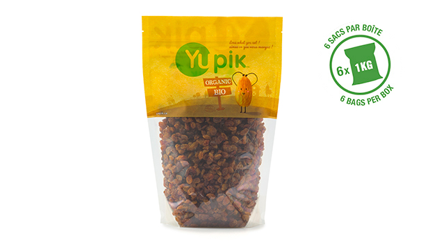 Organic raisins, organic vegetable oil.