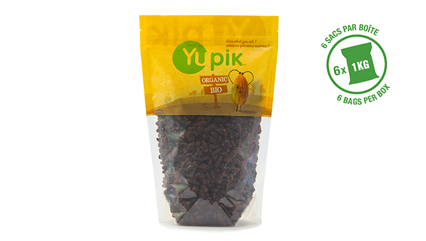 Organic raisins, organic sunflower oil.