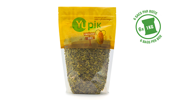 Organic pumpkin seeds.