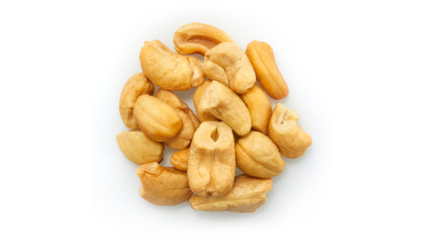 Cashews, non-hydrogenated canola oil .