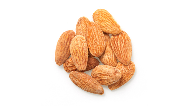 Almonds, salt.