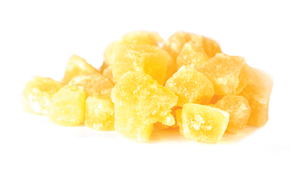Pineapple, sugar, sulphites, citric acid.