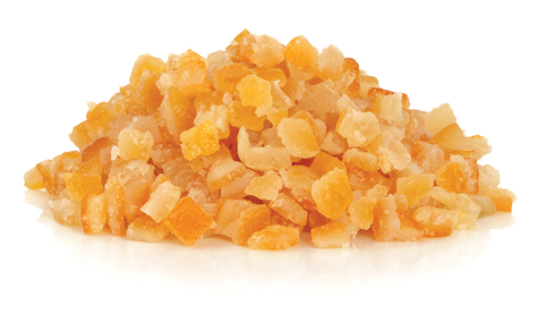 Orange peels, glucose, glucose-fructose, sodium benzoate,  citric acid and sodium metabisulphate.