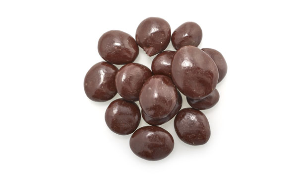 Dark chocolate (sugar, unsweetened chocolate, cocoa butter, soy lecithin), raisin (sultana raisins, vegetable oil), confectionary glaze (ethanol, shellac, acetylated monoglycerides, ethyl acetate), water, acacia gum.