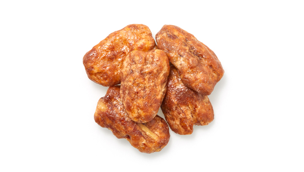 Pecan nuts, fine sugar, glazing sugar, glucose, hydrogenated canola oil, salt, arabic gum ,soy lecithin(emulsifier), artificial butter flavor, caramel color.