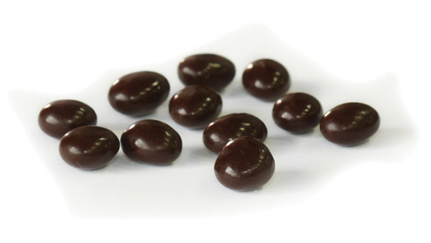 Semi sweet dark chocolate (sugar, chocolate liquor, cocoa butter, alkalized chocolate liquor, soya lecithine (emulsifier), vanillia, salt, artificial flavour),  coffee beans, confectioner's glaze, arabic gum.