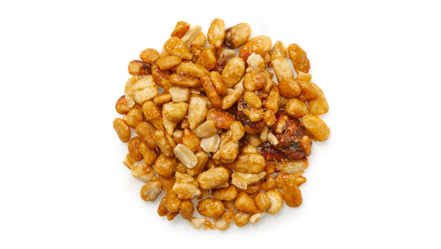 Roasted Sunflower seeds, fine maple, icing sugar, glucose, maple syrup, high stability vegetable oil (canola), artificial flavour, arabic gum, soy lecithin (emulsifier), caramel color.