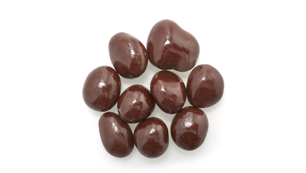 Semi-sweet dark chocolate (sugar, chocolate liquor, cocoa butter, chocolate liquor processed with alkali, soy lecithin (emulsifier), vanilla, salt, artificial flavor), peanuts, confectioner's glaze, arabic gum.