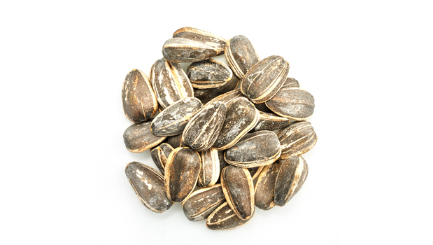 Sunflower seeds in shell.