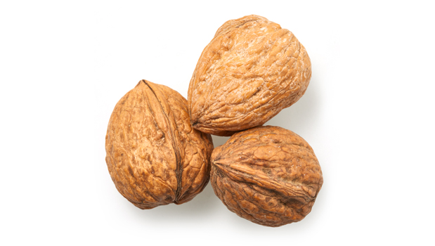 In shell walnuts.