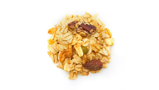 Oats, honey, sunflower oil, currants (Vegetable Oil), pumpkin seed, pecans, apples, sunflower seeds, almonds, cashews, organic apricots.