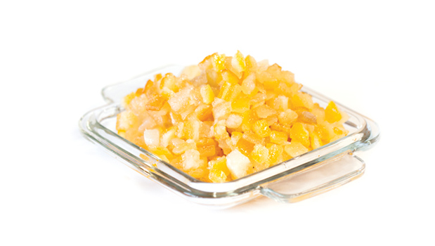 Lemon peel cubes, glucose-fructose syrup, sugar, citric acid, sodium benzoate, sulphur dioxide (traces).