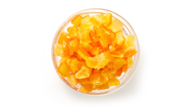Orange peel dices, lemon peel dices, glucose-fructose syrup, sugar, citric acid, sodium benzoate, sulphur dioxide (traces).